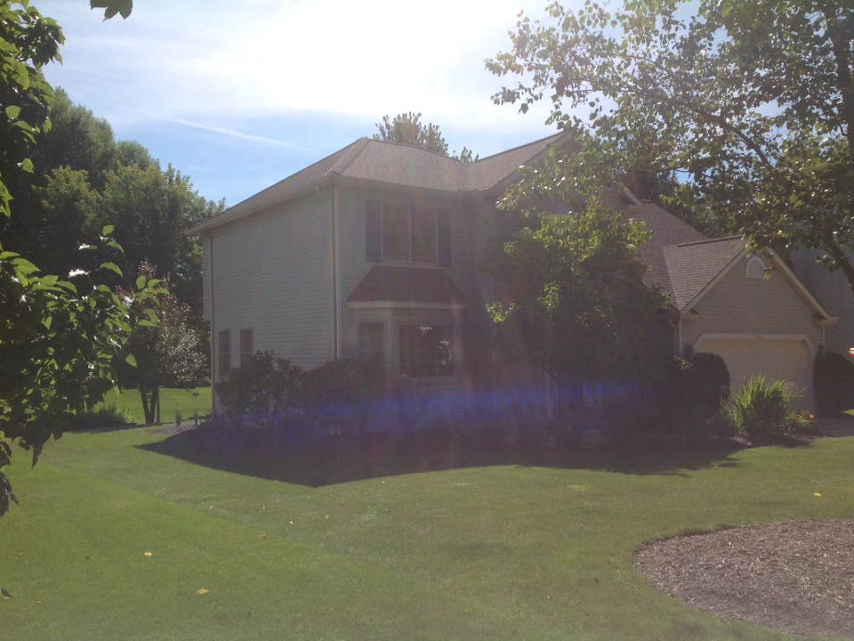 Twinsburg, OH - Another beautiful GAF hip roof properly ventilated with hip vents!