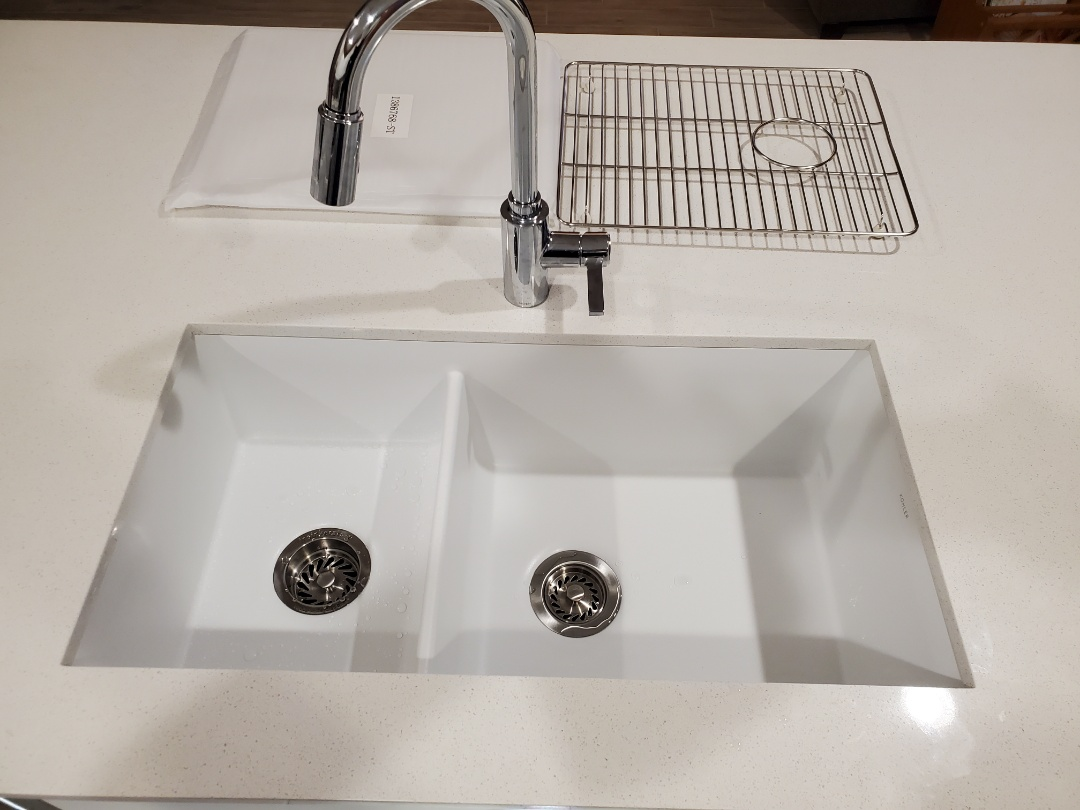 Surprise, AZ - Install composite granite sink and upgraded basket strainers in Surprise