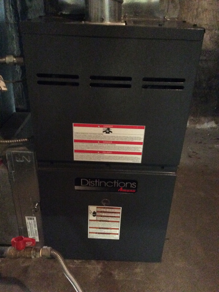 Kittredge, CO - Duct cleaning on Amana furnace