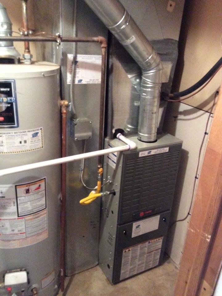 Kittredge, CO - New Trane furnace install