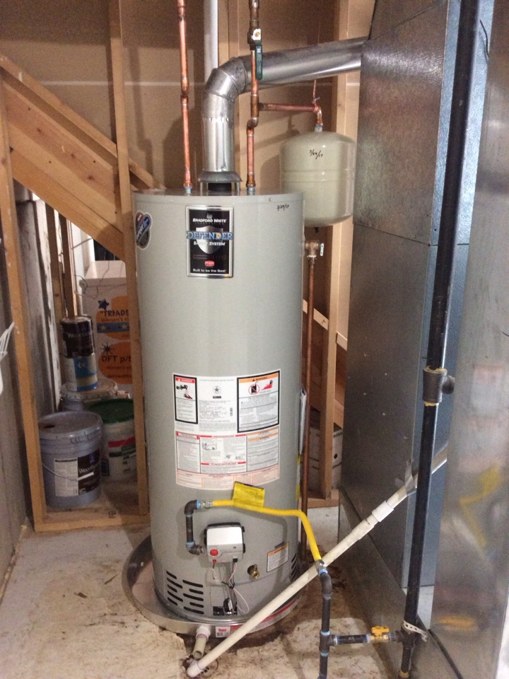 Golden, CO - Replaced 40 gallon water heater with new 50 gallon water heater and installed new expansion tank.