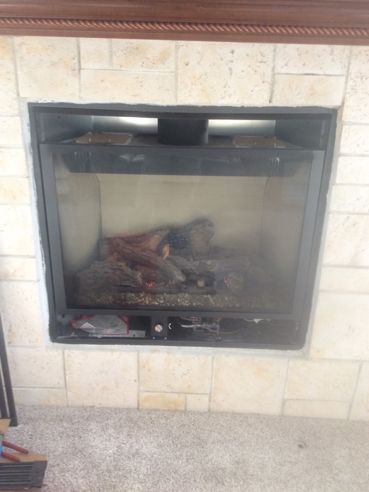 Commerce City, CO - Adding a fireplace blower to a Lennox gas fireplace.