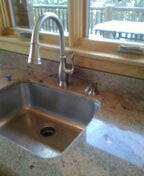 Pine, CO - Delta kitchen faucet installed