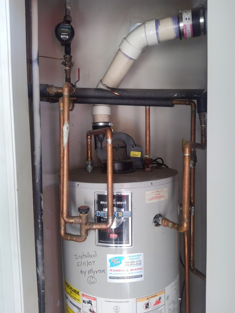 Littleton, CO - Free estimate on replacement of water heater with comfort loop for water coil.