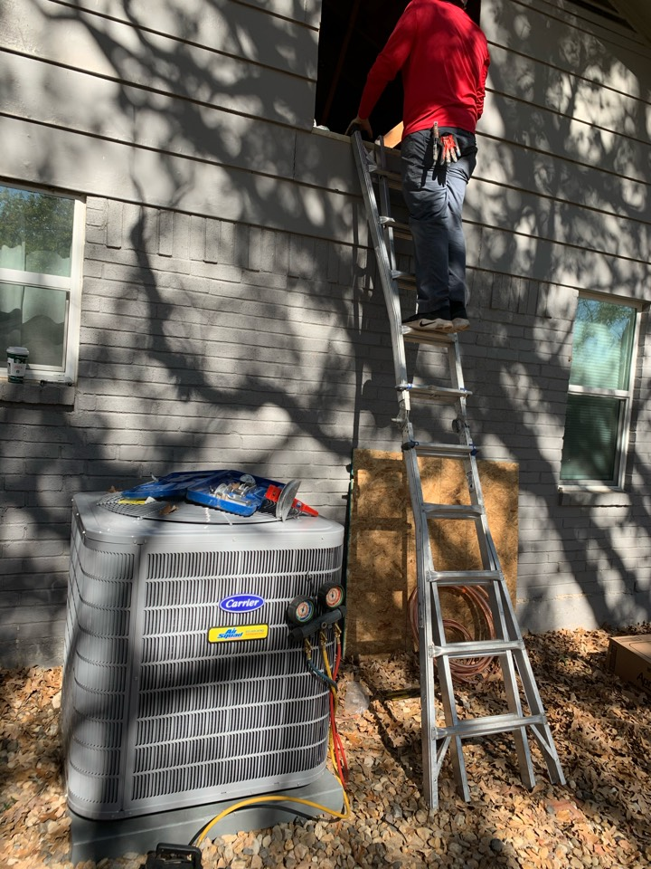 Keller, TX - Carrier ac install with Air Squad Excellence