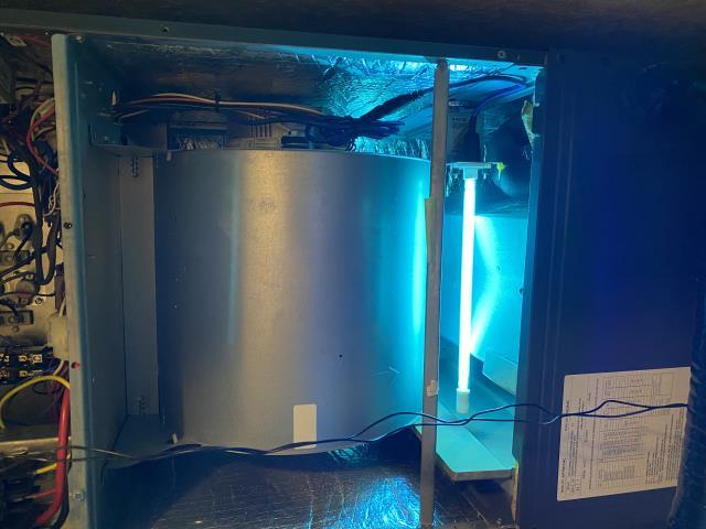 Hurst, TX - Heating inspection on Franklin system with UV light