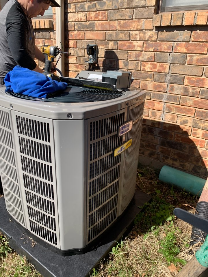 Watauga, TX - Another ac installation with Air Squad Excellence!