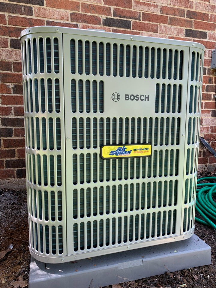 Euless, TX - Bosch AC unit.  Air Squad Excellence!