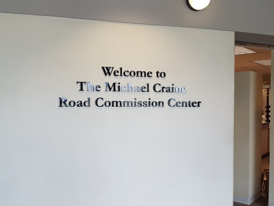 Dimensional letters for The Michael Craine Road Commission Center at the Livingston County Road Commision