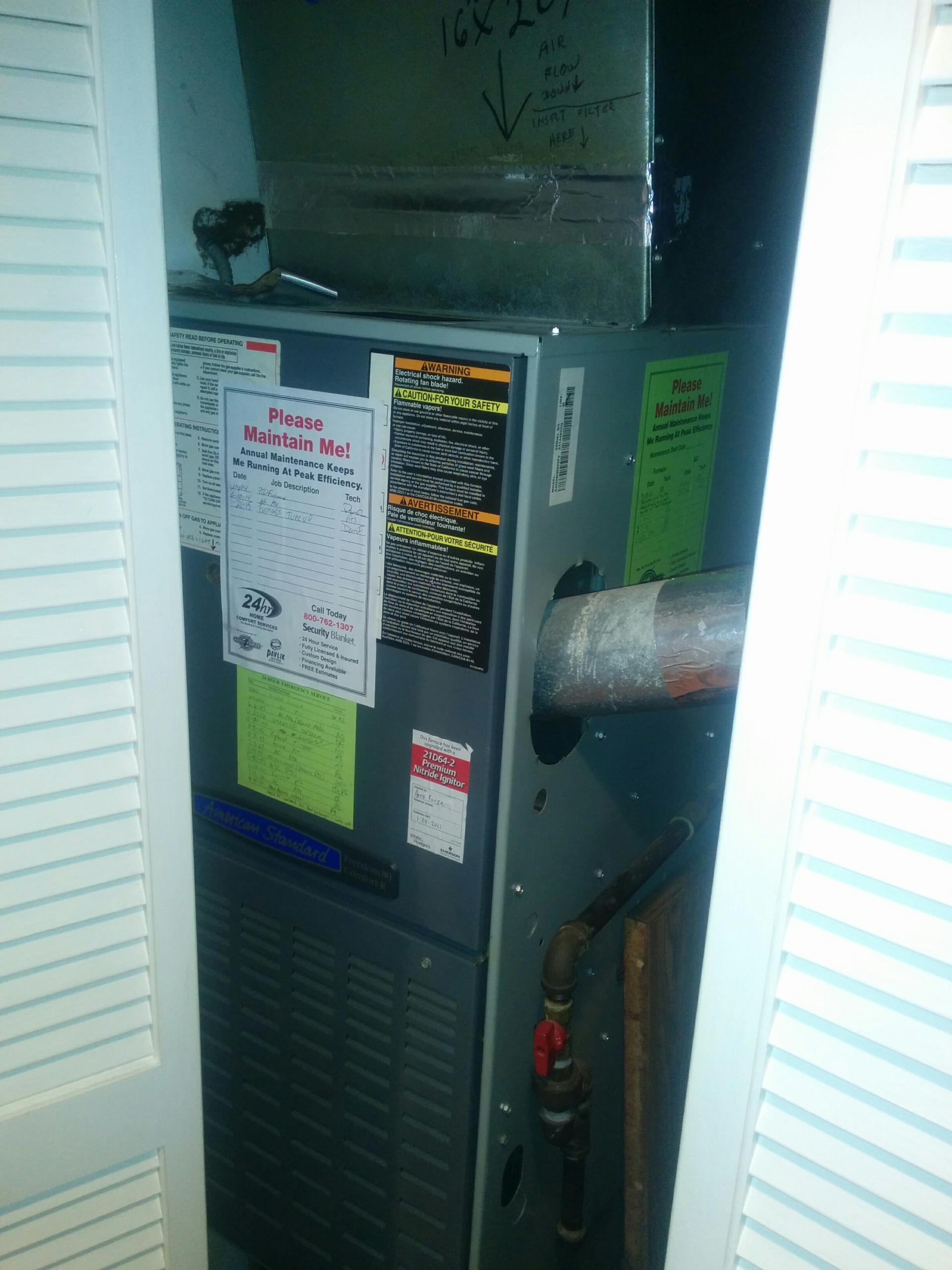 Wauconda, IL - Furnace tune up and cleaning.