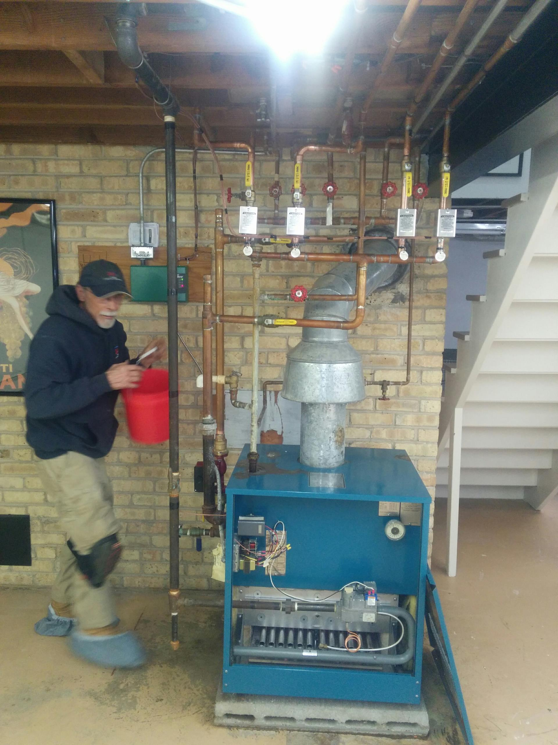 Barrington, IL - Boiler repairs, breathing new life into an old boiler!