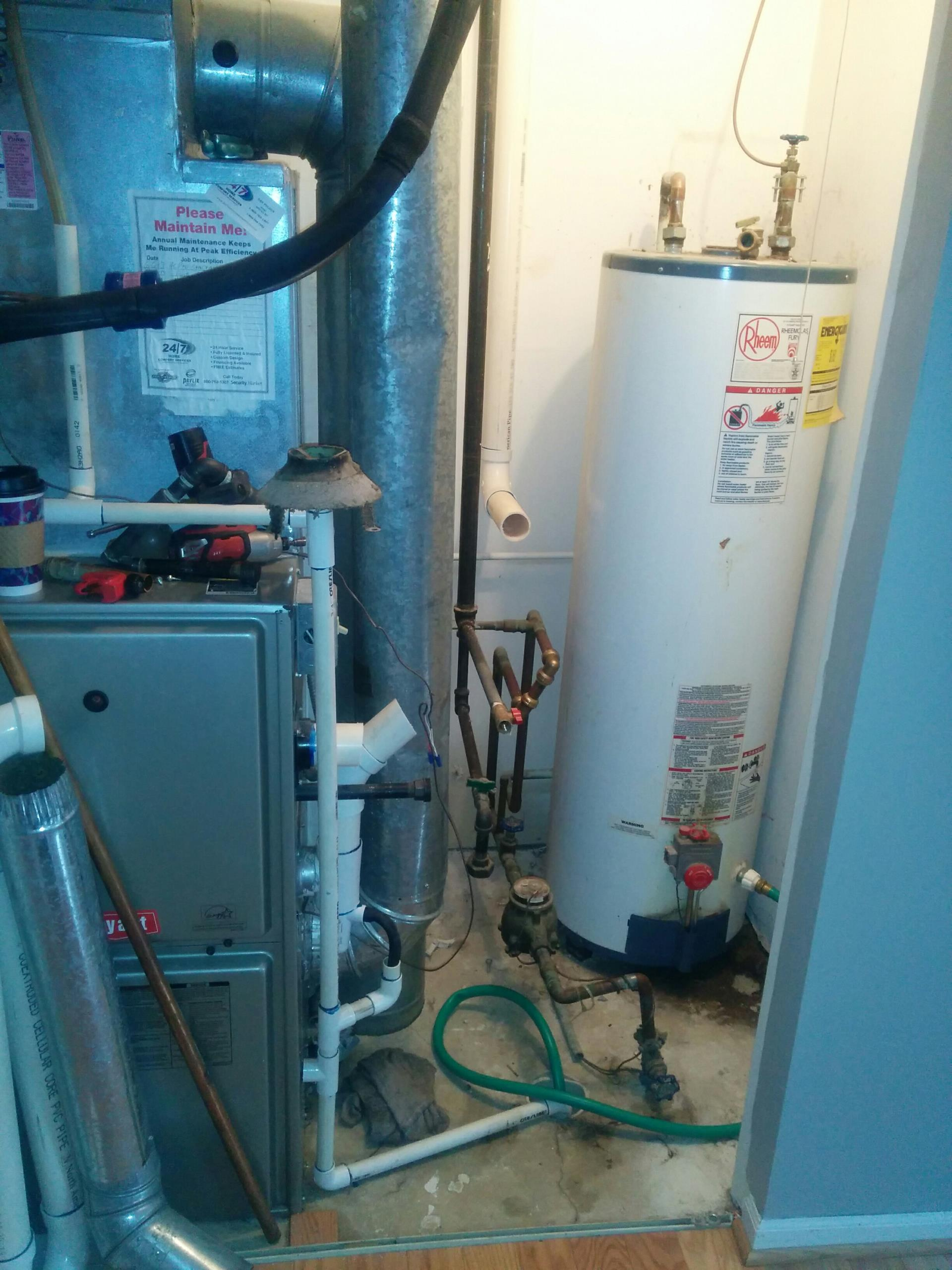 Island Lake, IL - Emergency water heater change out and upgraded blower motor