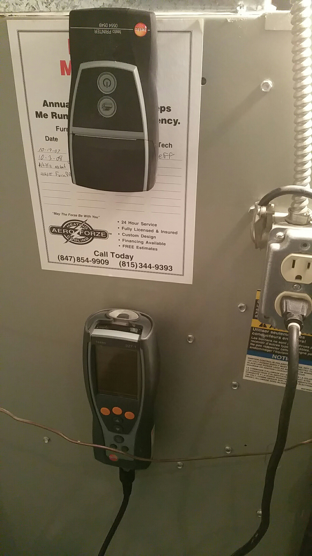Arlington Heights, IL - Furnace ptu for club members replace flame sensor