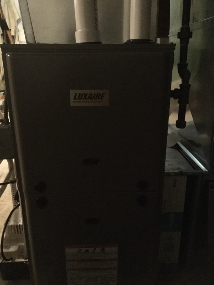 La Valle, WI - Annual service on luxaire gas furnace