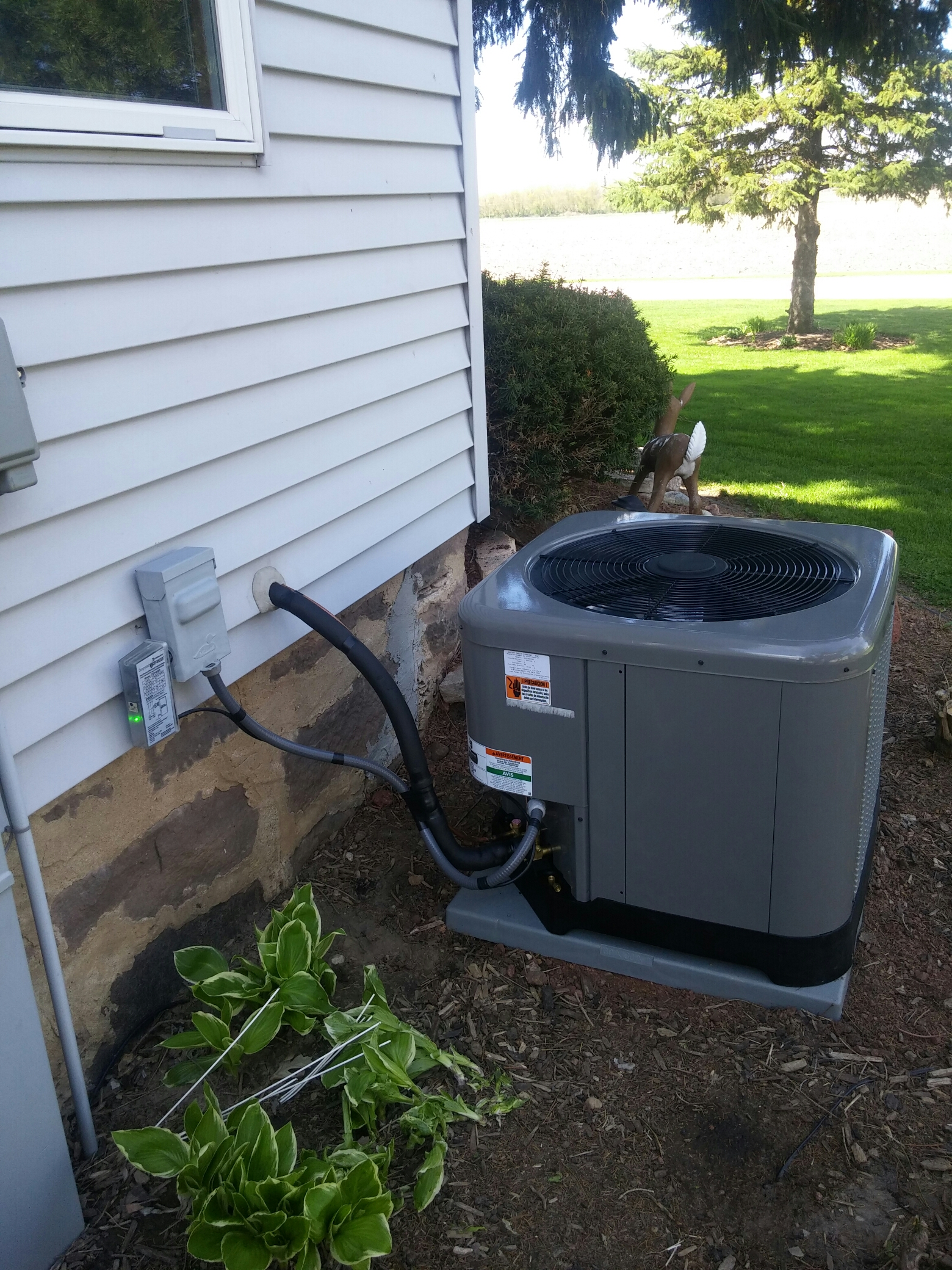 Oakfield, WI - Install new air conditioning unit