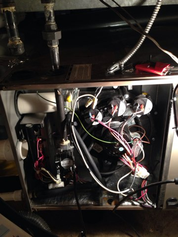 Buffalo Grove, IL - Furnace cleaning for club member.