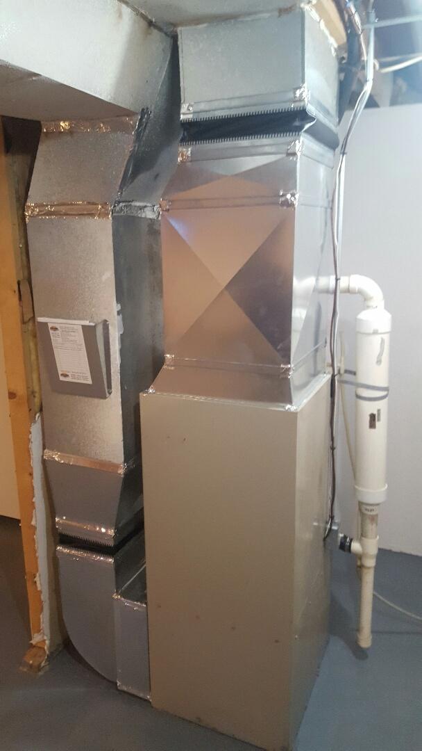 Edgerton, WI - Install furnace.
