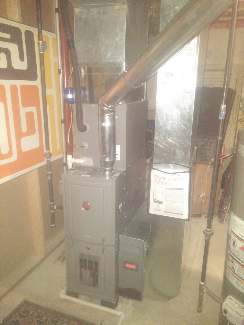 Edgerton, WI - Install new furnace and a.c.