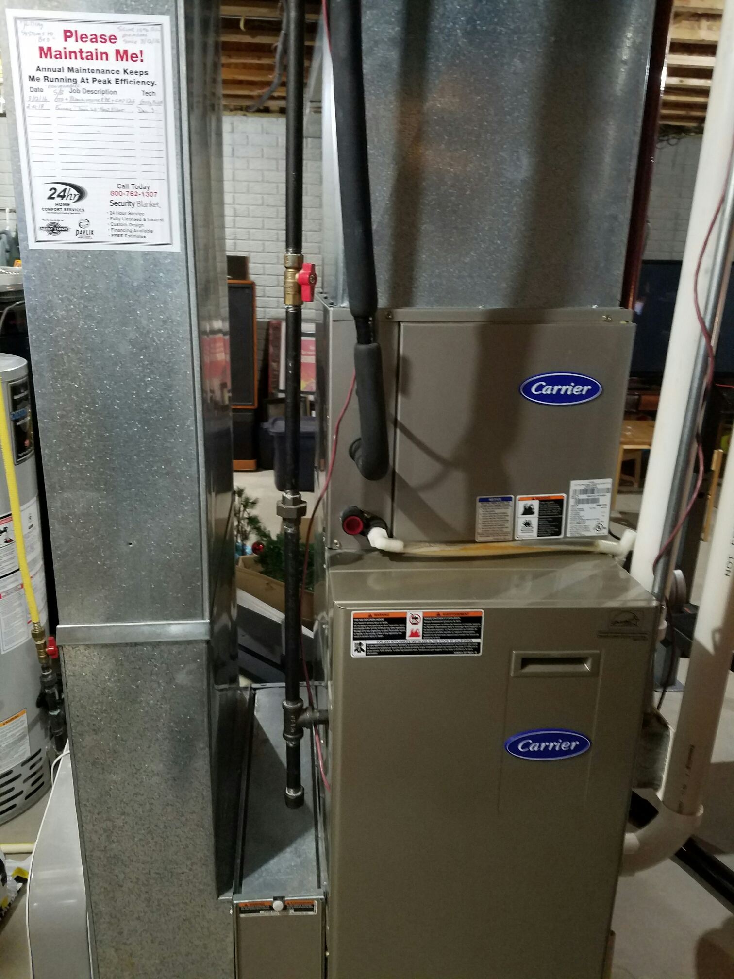 Oconomowoc, WI - Maintenance on a Carrier Furnace