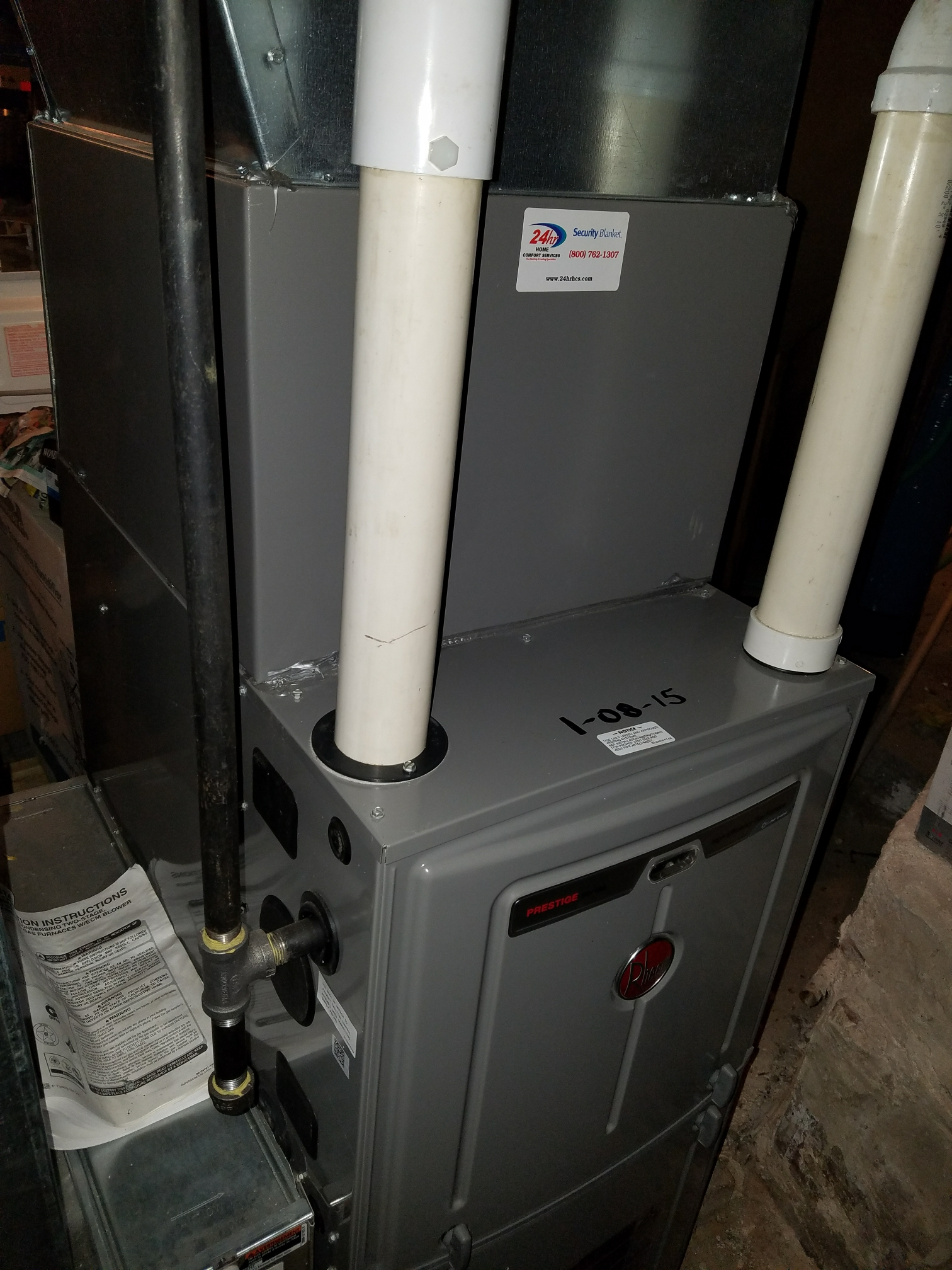 Janesville, WI - Maintenance on a Rheem furnace