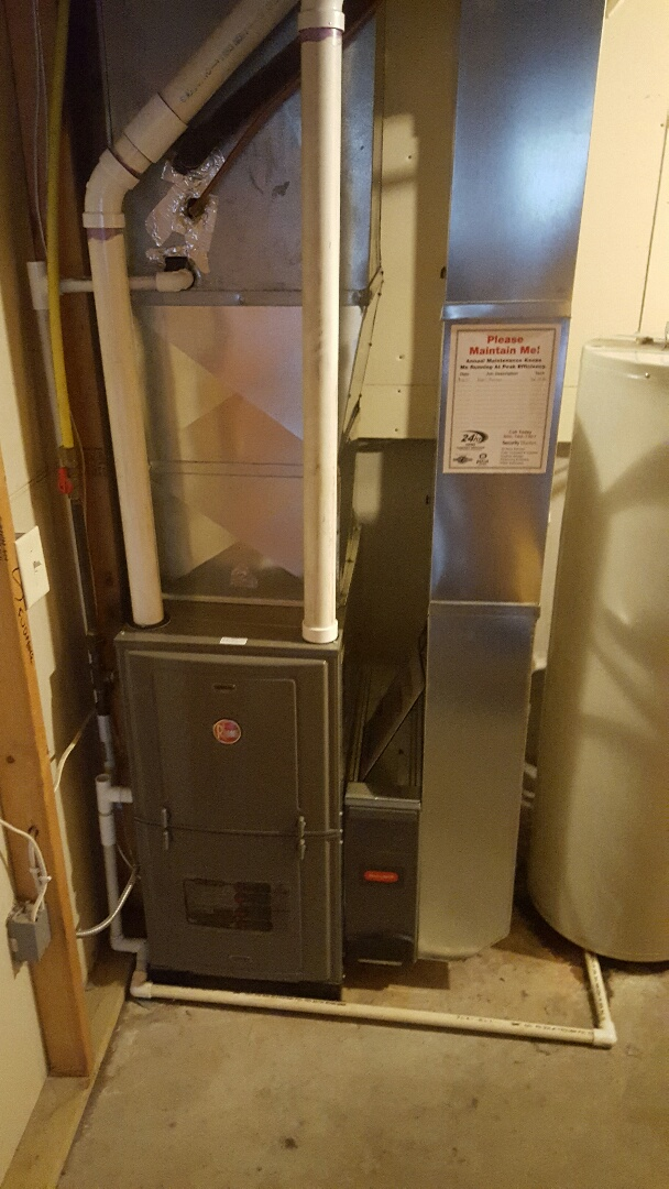Milton, WI - Installed new Rheem furnace.