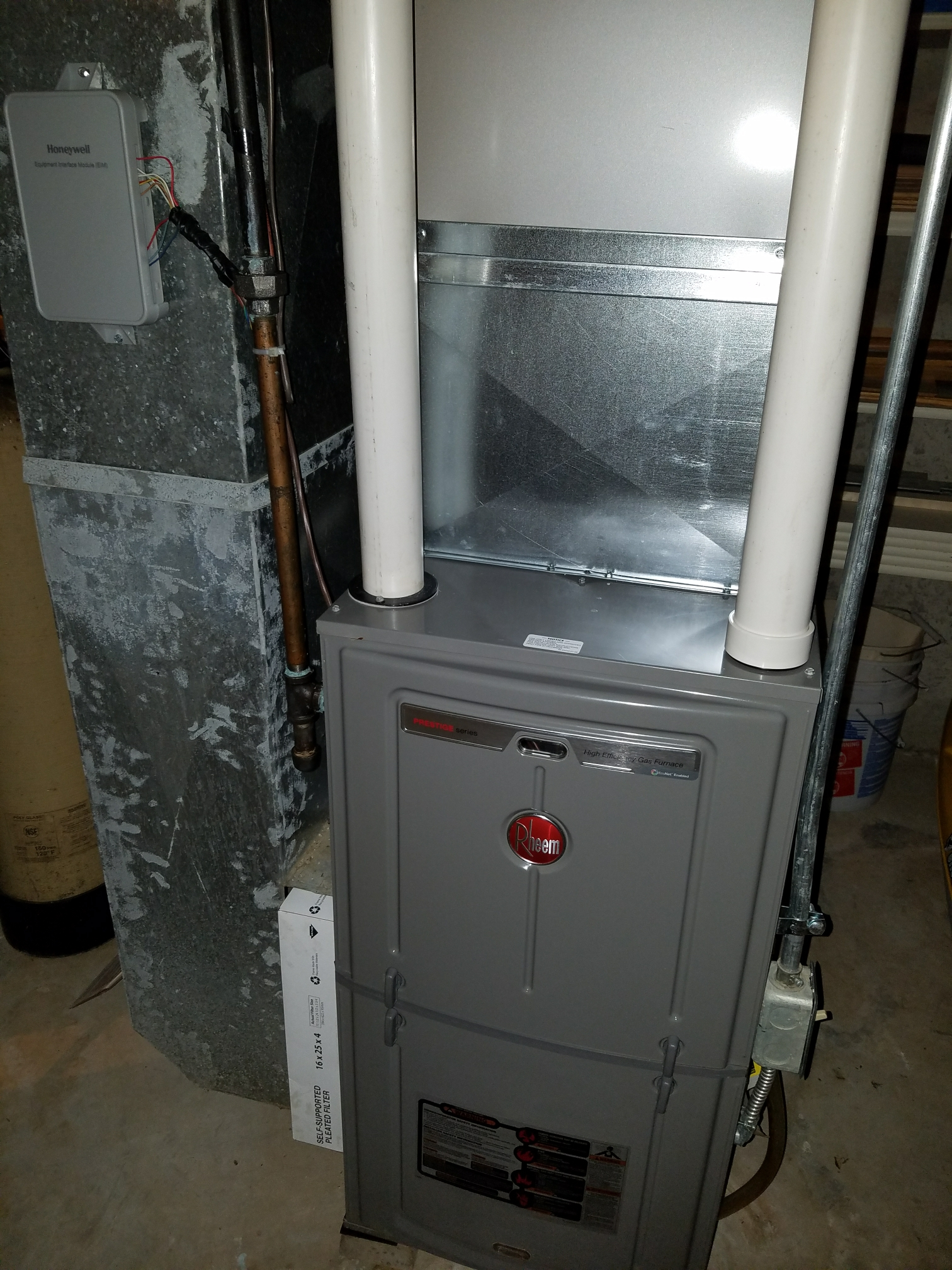 Edgerton, WI - Maintenance on a Rheem system