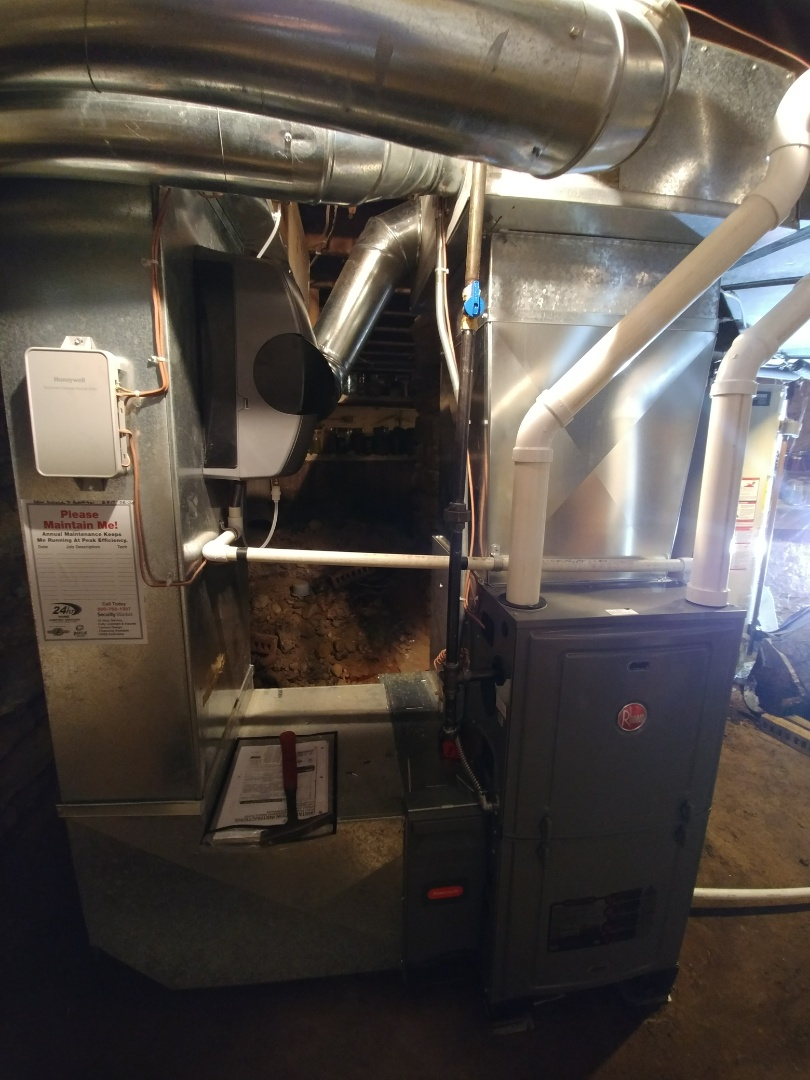 Wheaton, IL - Install new furnace and a.c. and humidifier