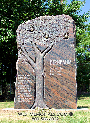 Memphis, TN - The Birnbaum memorial is located in Temple Israel Cemetery - Memphis, TN