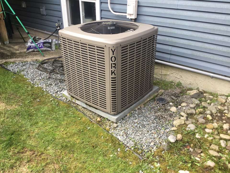 Dix Hills, NY - Performed a spring start up on a York split system in the town of Dix Hills