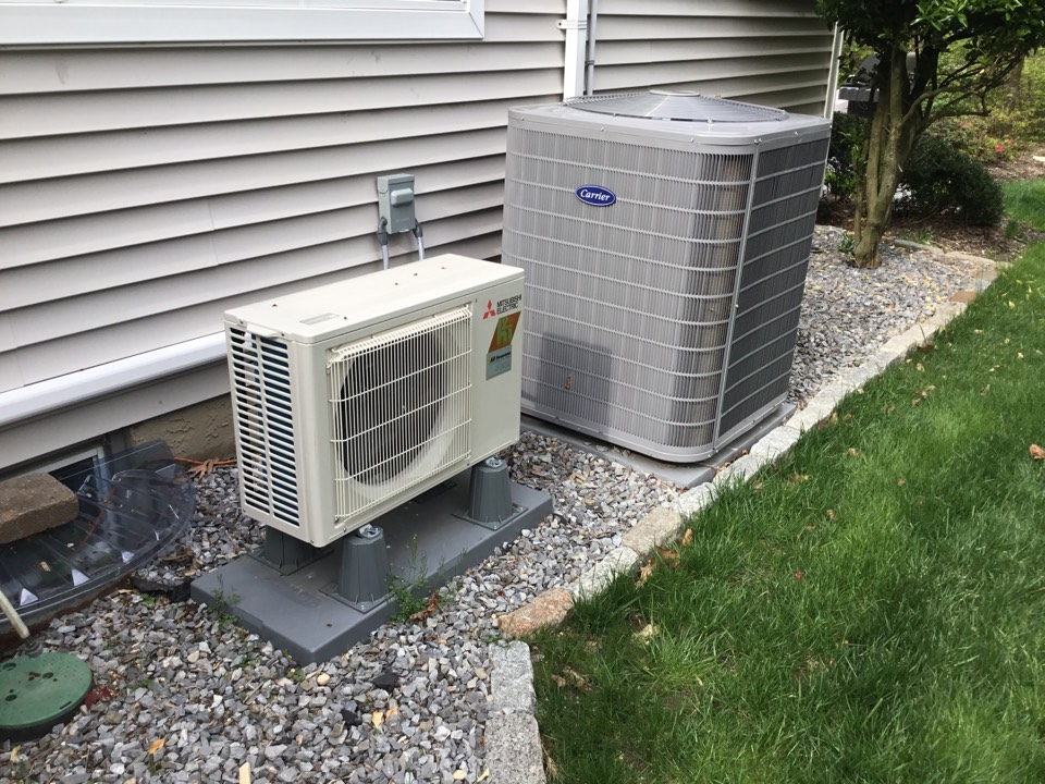 Northport, NY - Performed a spring inspection on one carrier split system and one Mitsubishi ductless unit In the town of Fort Salonga