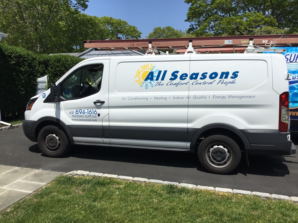 Hampton Bays, NY - Performed a spring maintenance on a York split system in the town of Hampton Bays