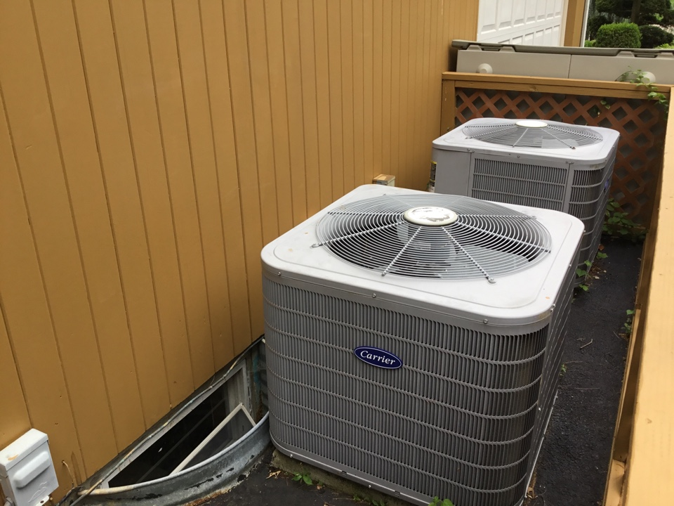 Jericho, NY - Perform the maintenance on two carrier split system and one RHEEM split system in the town of Jericho