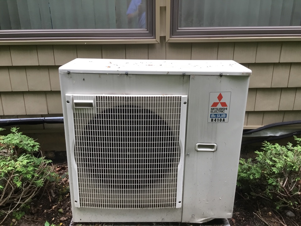 Northport, NY - Performed a summer inspection on a Mitsubishi ductless split system in the town of Northport