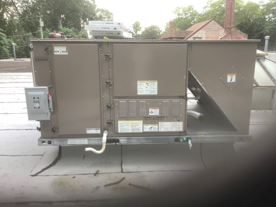 Glen Cove, NY - Performed maintenance on one York commercial rooftop unit and Two modine warehouse heaters in Glen cove