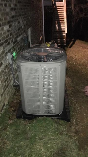 Trussville, AL - Brown Heating and Cooling installed a high efficient American Standard air conditioner.
