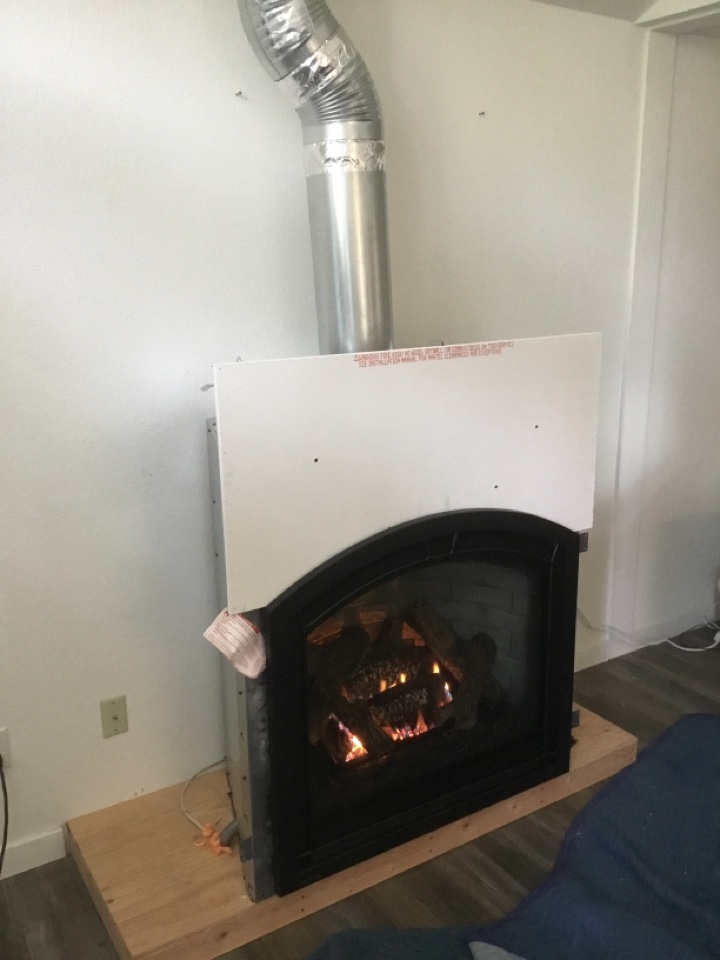 Burlington, WA - Gas fireplace install in Burlington, WA.