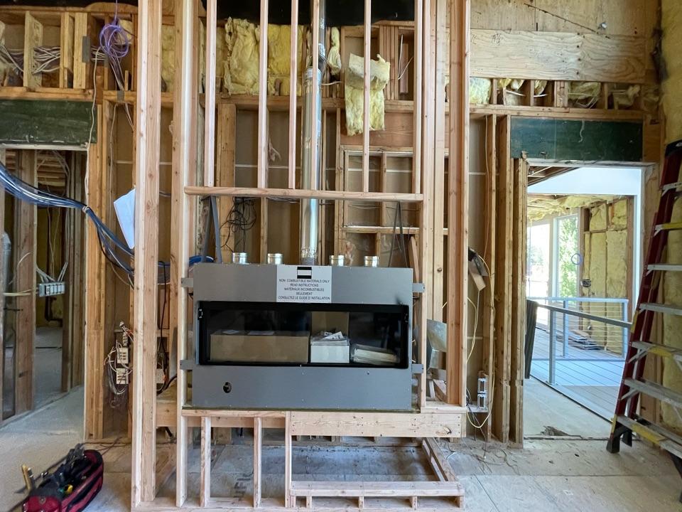 Ferndale, WA - Zero clearance fireplace install in Ferndale, WA.