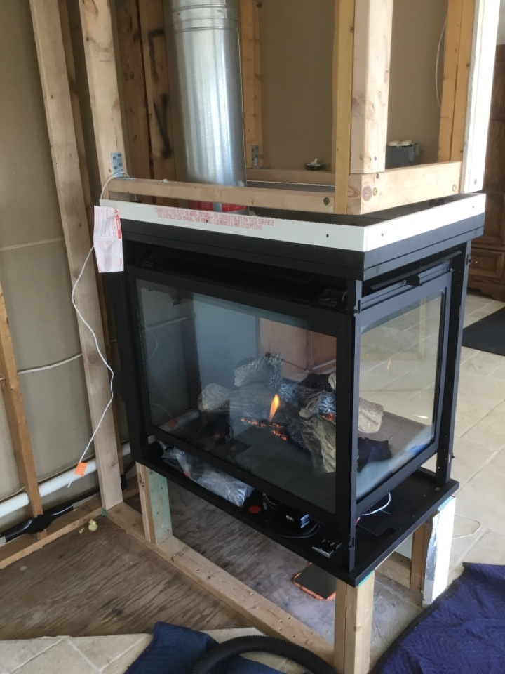 Mount Vernon, WA - Fireplace install in Mount Vernon, WA.