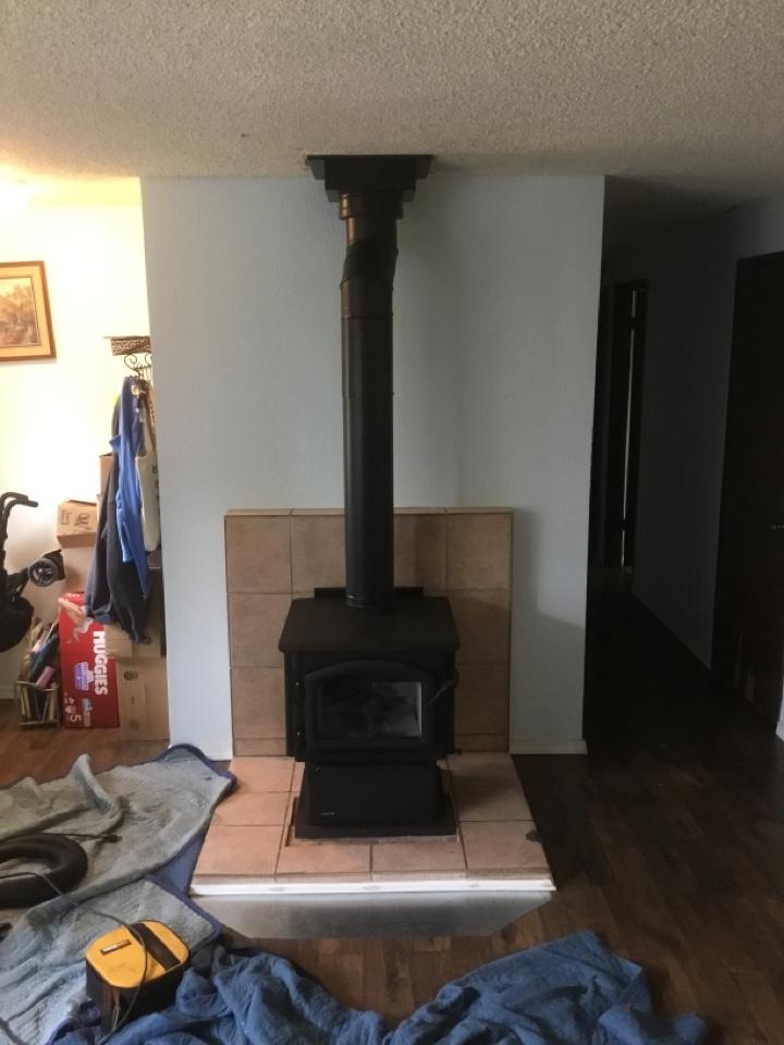 Burlington, WA - Wood stove installation in Burlington, WA.