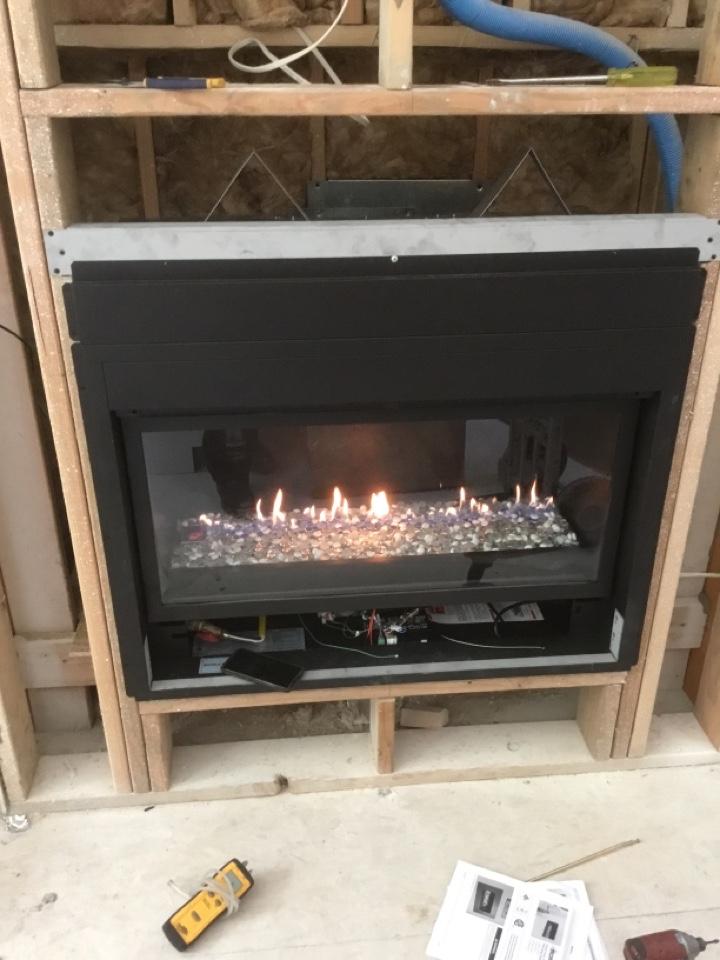 Burlington, WA - Fireplace install in Burlington, WA.