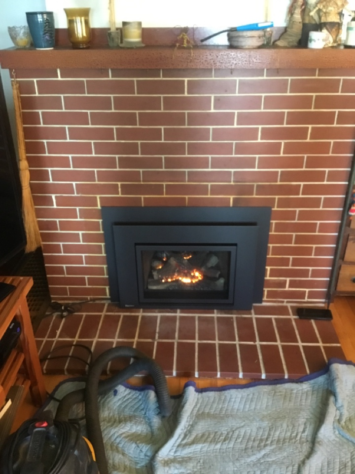 Ferndale, WA - Gas fireplace install in Ferndale, WA.