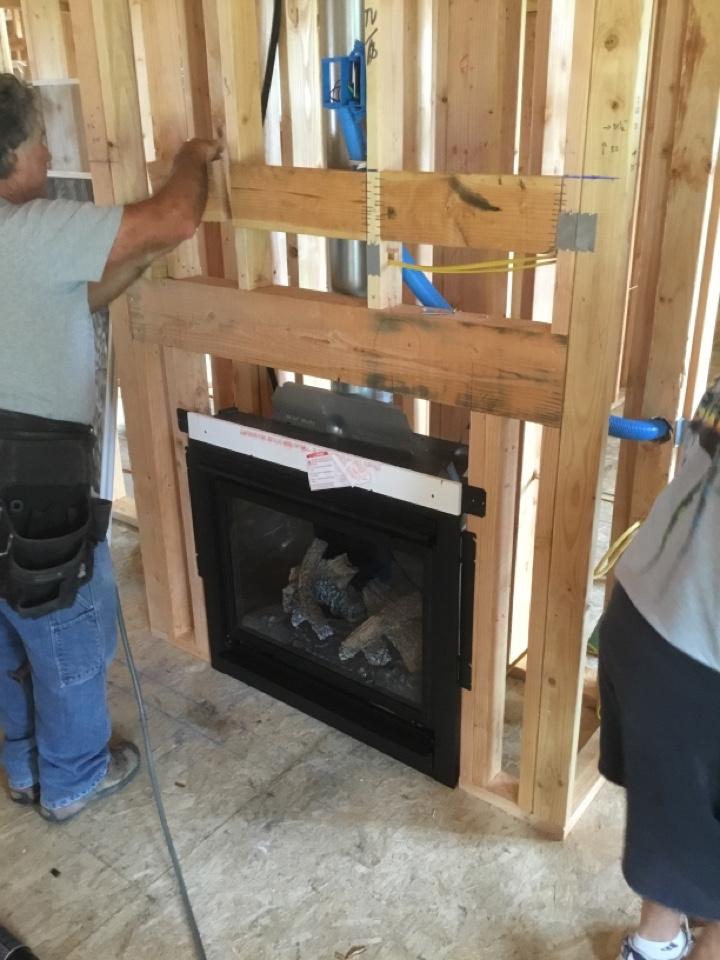 Ferndale, WA - Fireplace install in Ferndale, WA.