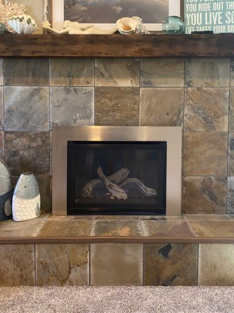 Ferndale, WA - Installing a new construction fireplace for a customer in Ferndale, Washington.
