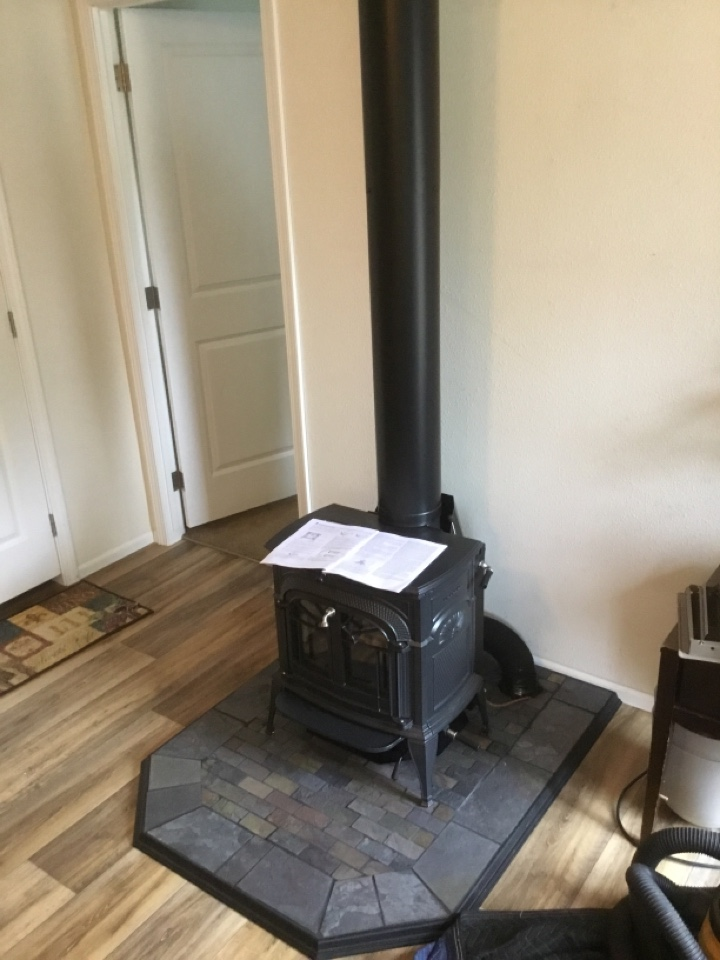 Bow, WA - Performing a wood stove installation for a customer in Bow, WA.