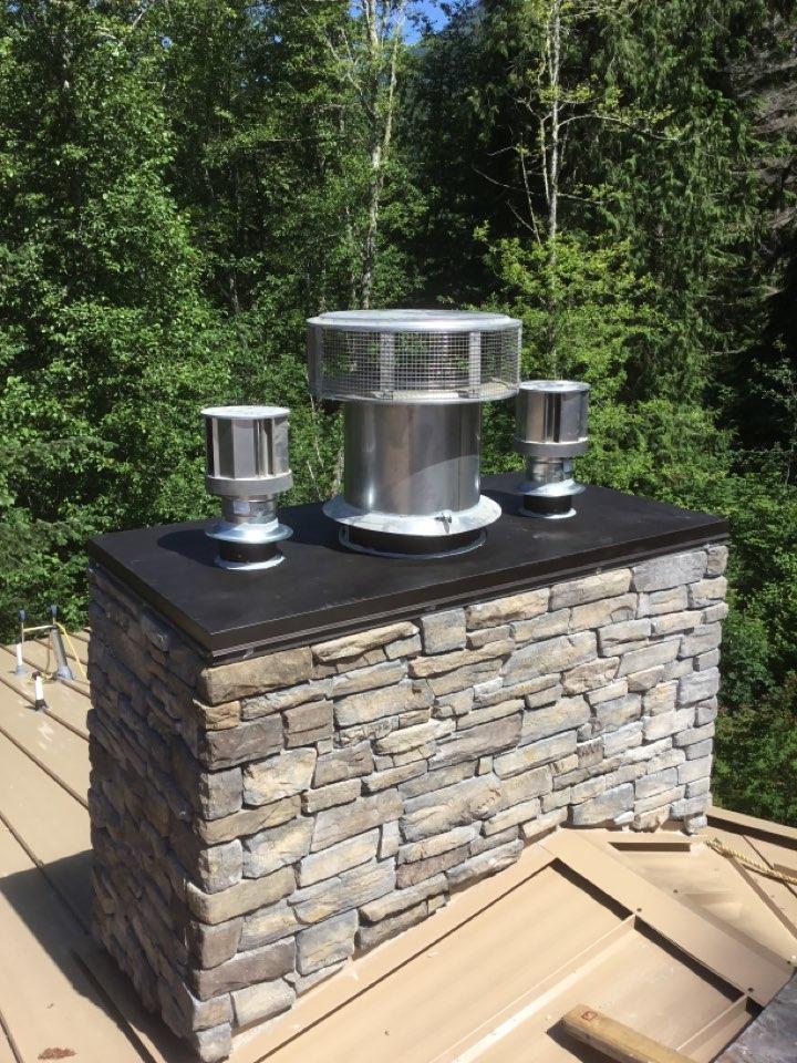 Burlington, WA - Wood stove install