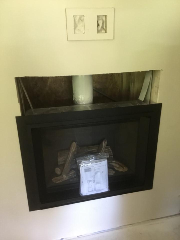 Burlington, WA - Gas fireplace install