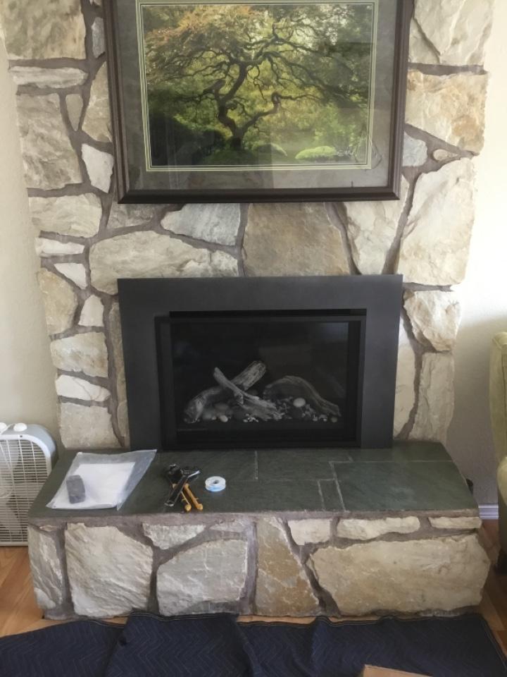 Blaine, WA - Double fireplace insert install