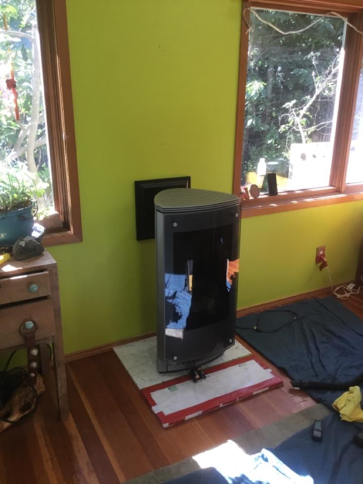 Gas stove install in Burlington, WA.