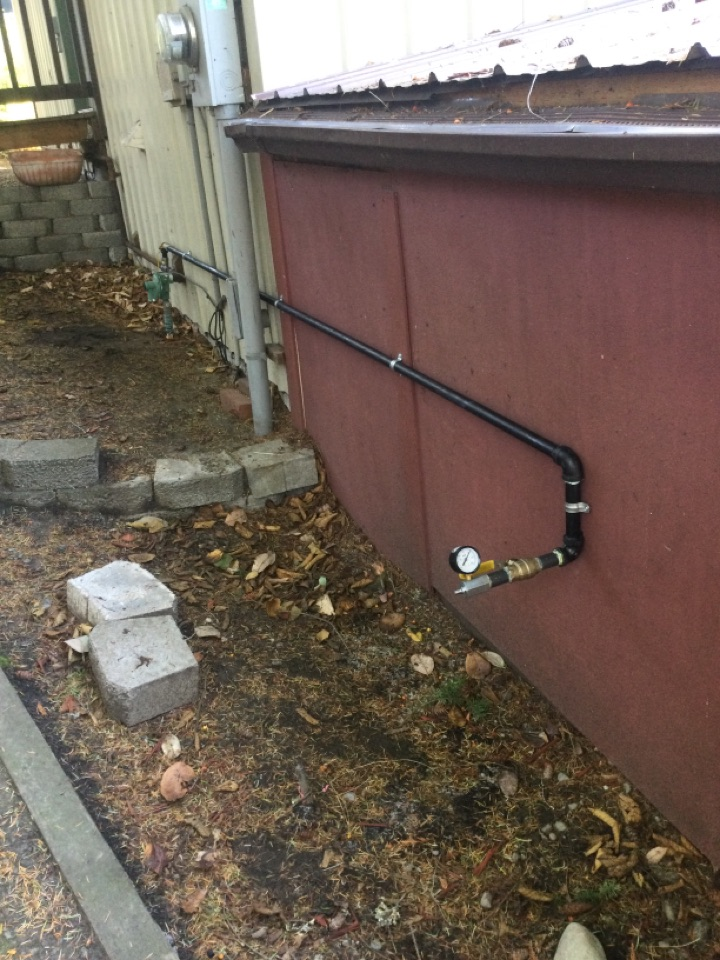 La Conner, WA - Gas pipe installation for generator near La Conner, WA