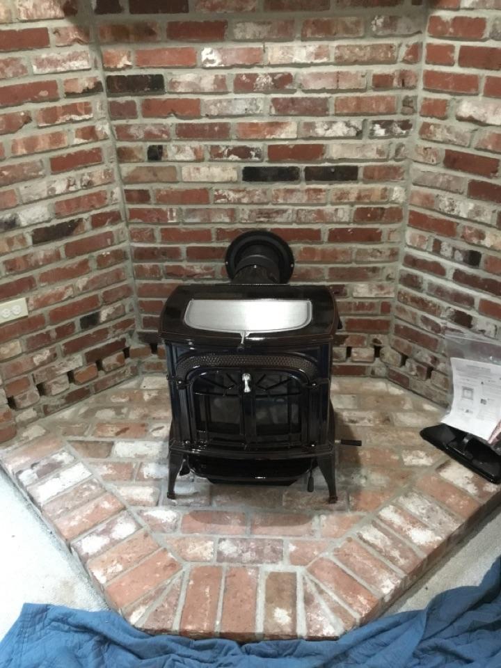 Oak Harbor, WA - Wood stove install in Oak Harbor, WA.